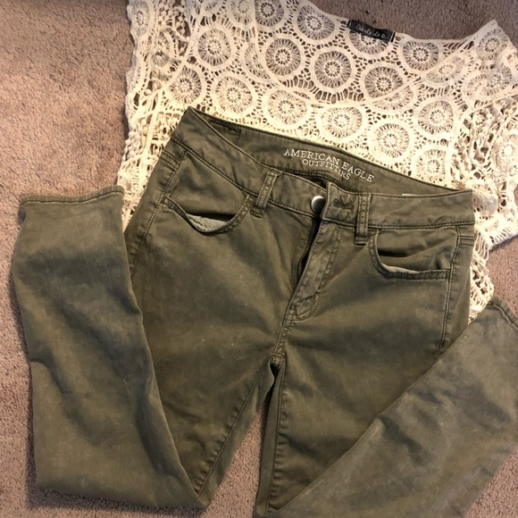 ca553e2ef4848 American Eagle Outfitters Pants | American Eagle Jegging Crop Size 4 ...